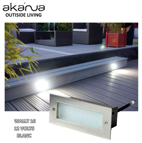 Wally 16 spot led ext rieur terrasse bois akanua tarif for Spot de terrasse encastrable